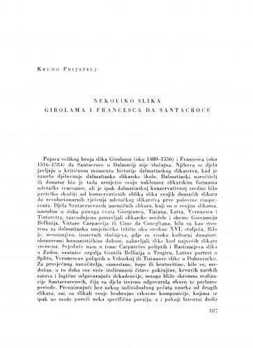 Nekoliko slika Girolama i Francesca de Santacroce