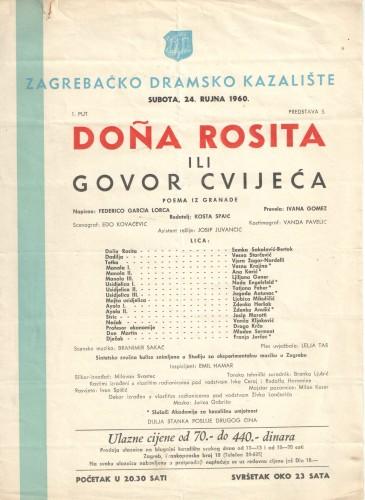 DOÑA ROSITA ILI GOVOR CVIJEĆA Poema iz Granade