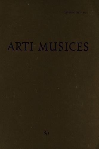 God. 8(1977), br. 1 : Arti musices