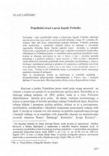 Prijedložni izrazi u prozi Jagode Truhelke