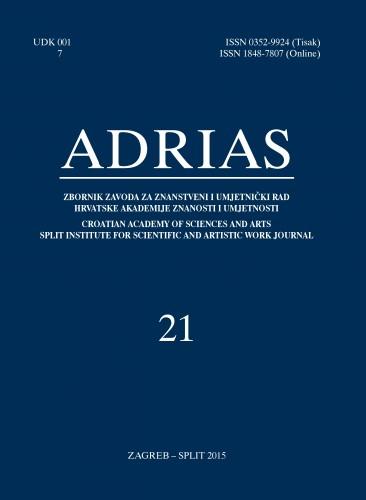Sv. 21 (2015) : Adrias : zbornik Zavoda za znanstveni i umjetnički rad Hrvatske akademije znanosti i umjetnosti u Splitu