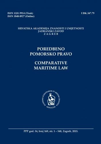 Br. 169(2015) = god. 54 : Poredbeno pomorsko pravo