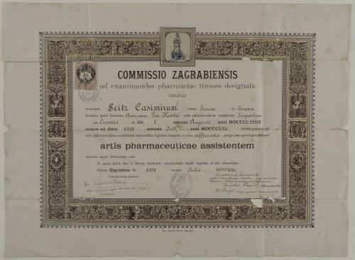 Tirocinijska diploma Kazimira Seitza