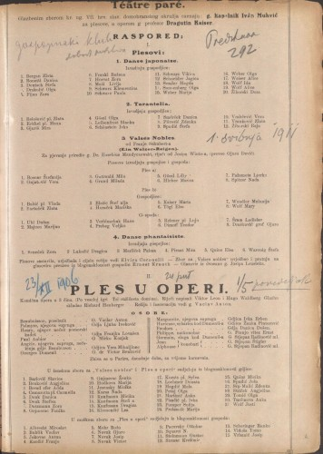 Ples u operi : Komična opera u 3 čina