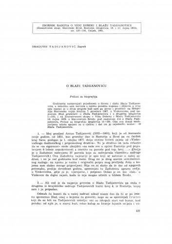 O Blažu Tadijanoviću : prilozi za biografiju