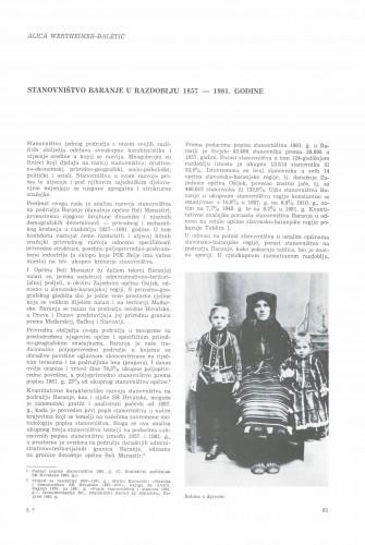 Stanovništvo Baranje u razdoblju od 1857. do 1981. godine