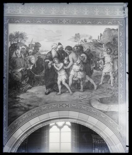 Katedrala sv. Petra (Đakovo) : Josipa prodaju braća, freska u brodu