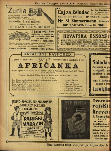 Afričanka : Velika opera u pet činova