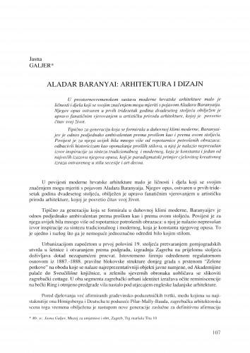 Aladar Baranyai : arhitektura i dizajn
