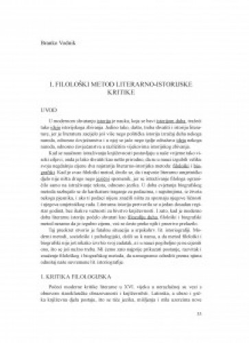 Filološki metod literarno-istorijske kritike