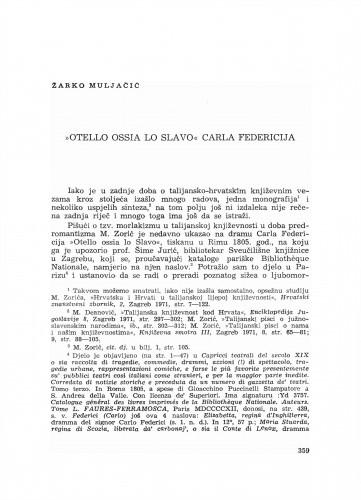 Otello ossia lo Slavo Carla Federicija