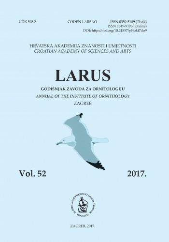 Knj. 52 (2017) : Larus : godišnjak Zavoda za ornitologiju Hrvatske akademije znanosti i umjetnosti