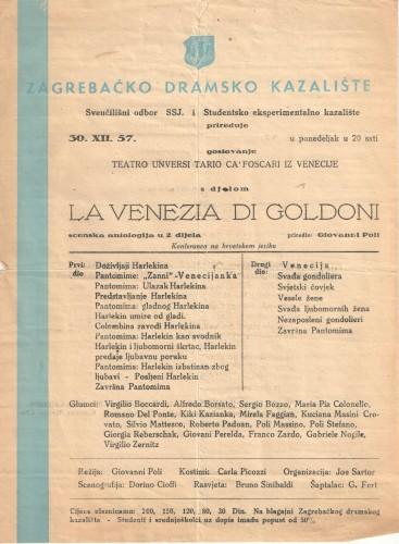 La Venezia di Goldoni scenska antologija u 2 dijela