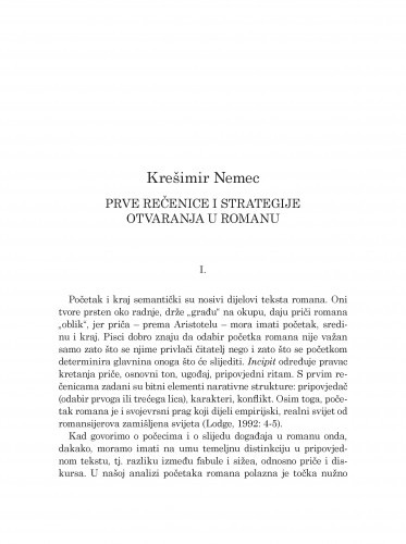 Prve rečenice i strategije otvaranja u romanu