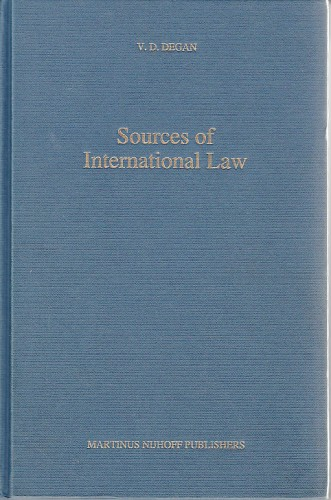 Sources of international law : Vladimir Đuro Degan - zbirka knjiga i članaka
