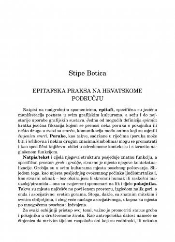 Epitafska praksa na hrvatskome području