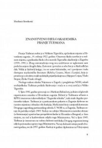 Znanstveno djelo akademika Franje Tuđmana