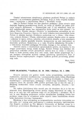 John Blacking, *Guilfold, 22. 10. 1928, +Belfast, 24. 1. 1990.