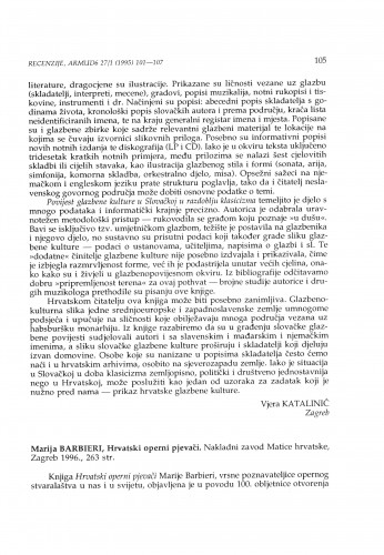 Barbieri, Marija: Hrvatski operni pjevači, Zagreb, 1996.