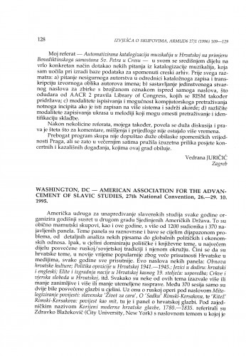 American Association for the Advancement of Slavic Studies, 27th National Convention, Washington, DC, 26.-29.10.1995.
