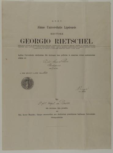 Diploma doktora filozofije Arpada Pečića