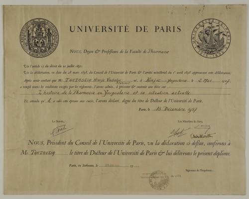 Doktorska diploma Hrvoja Tartalje