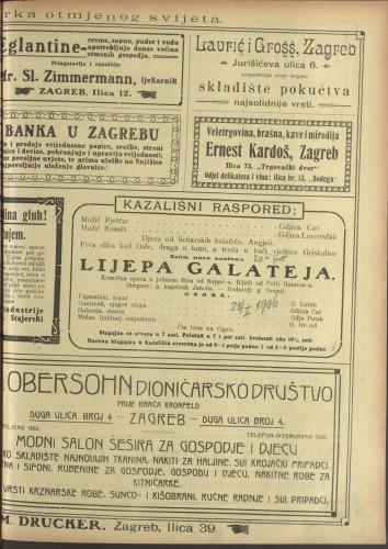 Lijepa Galateja Komična opera u jednom činu