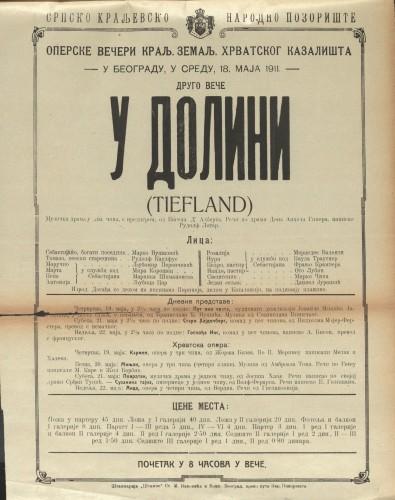 U dolini Glazbena drama u dva čina s predigrom  =  Tiefland
