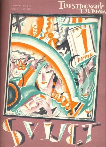 Naslovnica časopisa Svijet, br.14, 2.4.1927., autor: Oto Antonini