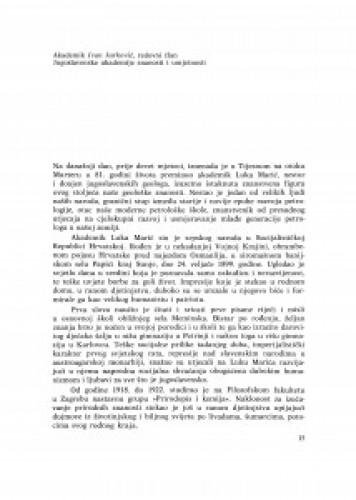 In memoriam akademiku Luki Mariću : održan 17. ožujka 1980. u palači Akademije