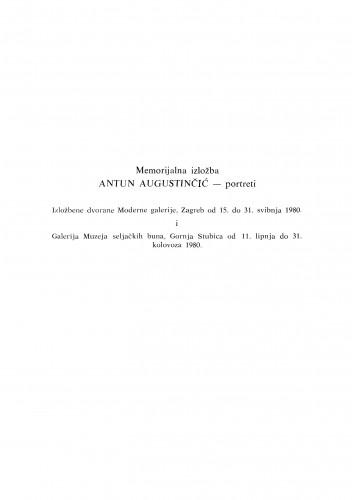 Komemorativni sastanak u povodu prve obljetnice smrti akademika Antuna Augustinčića