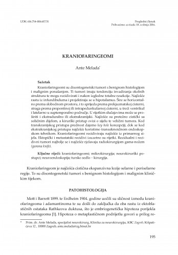 Kraniofaringeomi