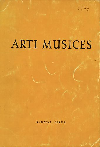 Special Issue (1970)1 : Arti musices