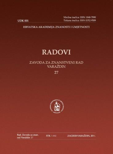 Knj. 27 (2016) : Radovi Zavoda za znanstveni rad Varaždin