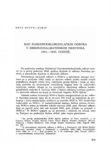 Rad Narodnooslobodilačkih odbora u srednjodalmatinskim okruzima 1941-1945. godine