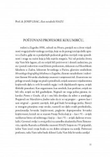 Riječ na ispraćaju, Zadar, 3. ožujka 2009. godine