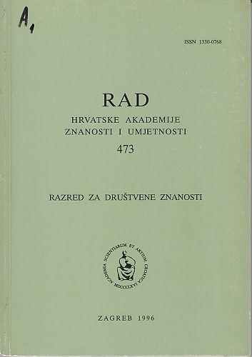 Knj. 34(1996) : RAD