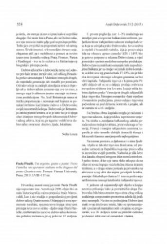 Paola Pinelli, Tra argento grano e panni: Piero Pantella, un operatore italiano nella Ragusa del primo Quattrocento. Firenze: Firenze University Press, 2013 : [prikaz]