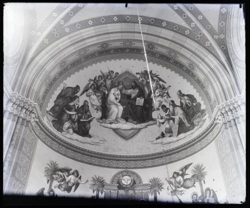 Seitz, Alexander Maximilian  : Katedrala sv. Petra (Đakovo) : Krunjenje Bogorodice, »Crkva pobjednica«, freska u glavnoj apsidi [C. Angerer & Göschl  ]