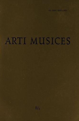 God. 8(1977), br. 2 : Arti musices