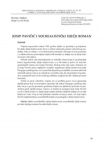 Josip Pavičić i socrealistički dječji roman / Berislav Majhut, Sanja Lovrić Kralj