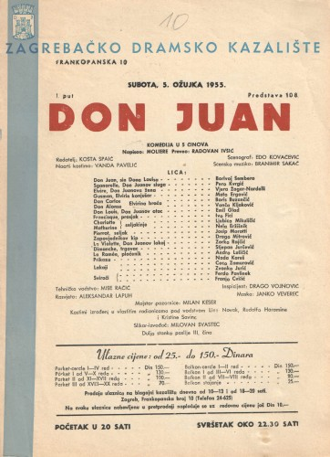 Don Juan Komedija u 5 činova