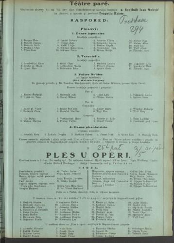 Ples u operi Komična opera u 3 čina