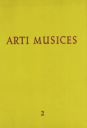 God. 2(1971) : Arti musices