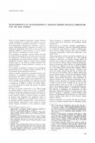 Život kmetova na veleposjedima u Baranji između Dunava i Drave od 1700. do 1848. godine