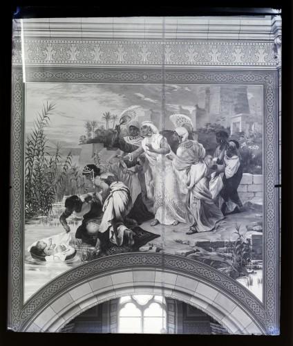 Katedrala sv. Petra (Đakovo) : Nalazak Mojsijev, freska u brodu