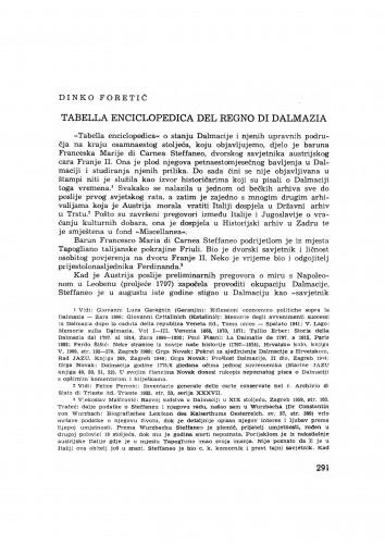 Tabella enciclopedica del regno di Dalmazia