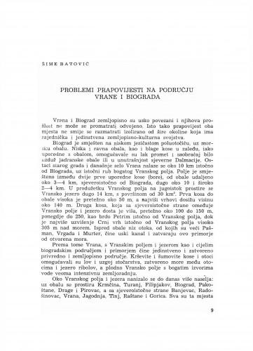 Problemi pravopovijesti na području Vrane i Biograda