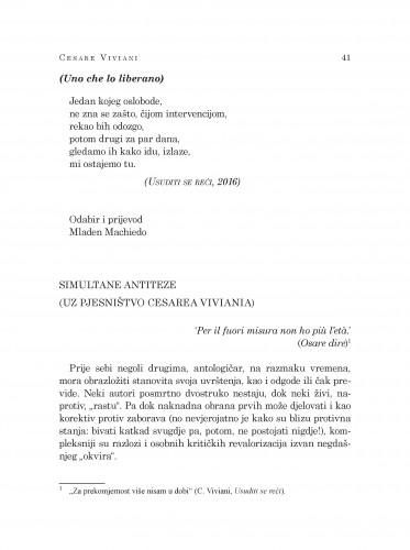 Simultane antiteze : (uz pjesništvo Cesarea Viviania)