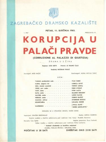 Korupcija u Palači Pravde Drama u 3 čina  =  Corruzione al Palazzo di Giustizia